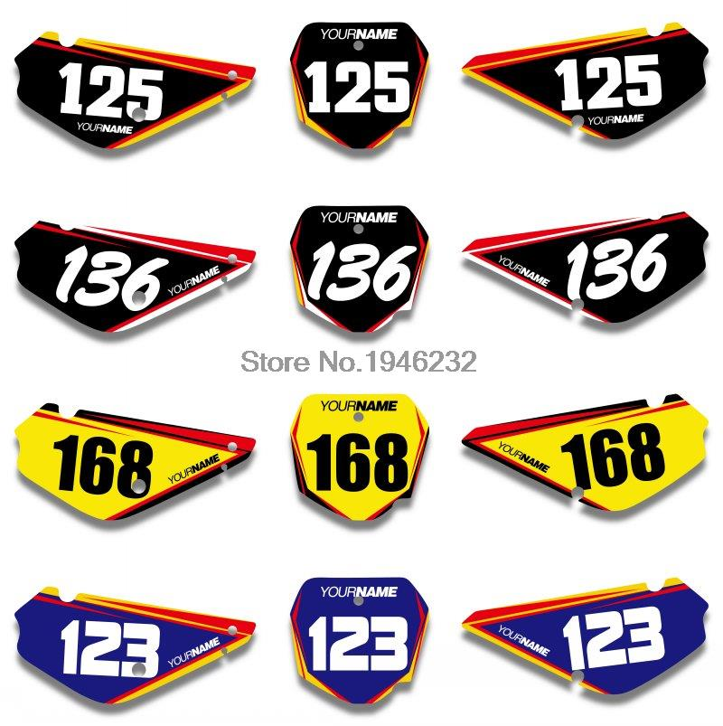 H2CNC Custom Number Plate Background Graphics Sticker & Decal For Suzuki RM85 2002 2015 2004 2006 2008 2010 2012 2014 RM 85