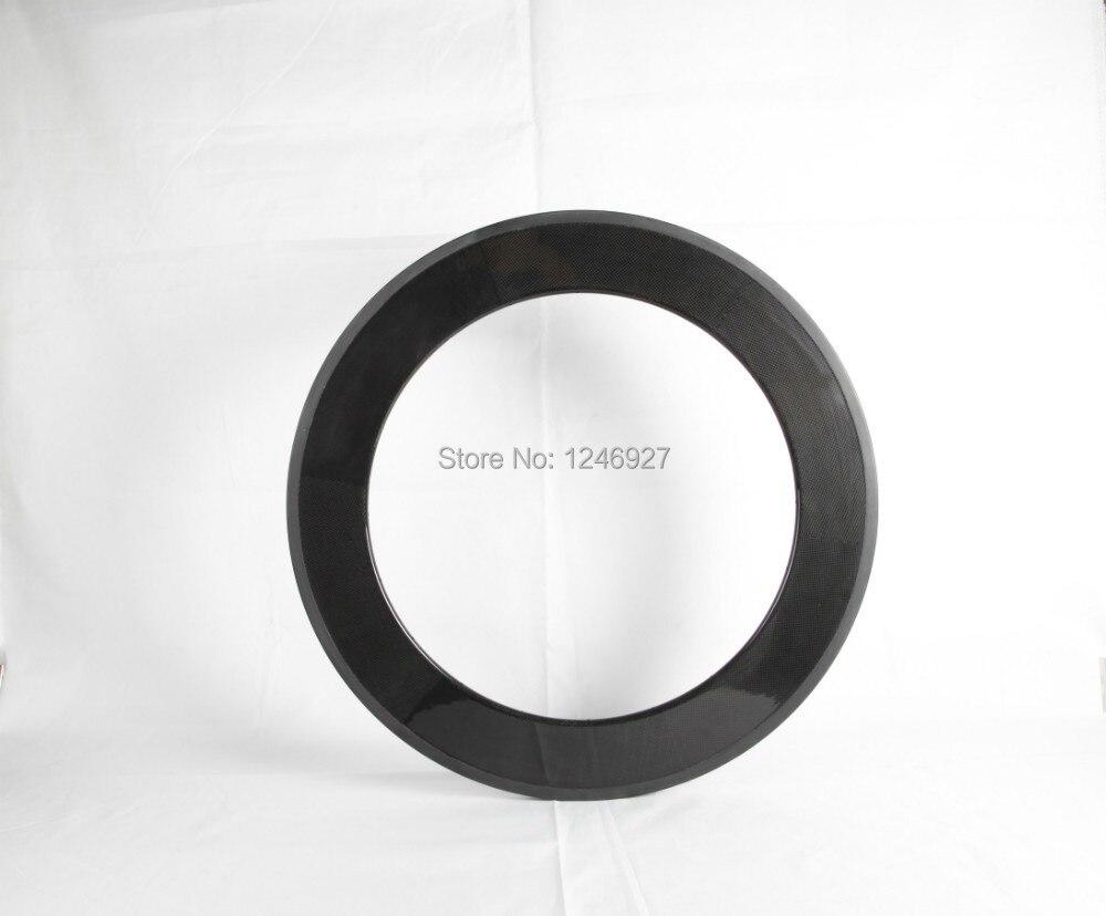 Nouveau matériau super léger 700C 88mm pneu jantes en carbone