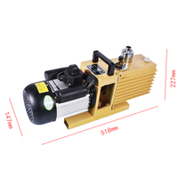 1PC Rotary Vane Vacuum Pump 8CFM 2XZ 4 Liter Double stage Suction Pump Specialized For KO TBK LCD OCA Laminating Machine