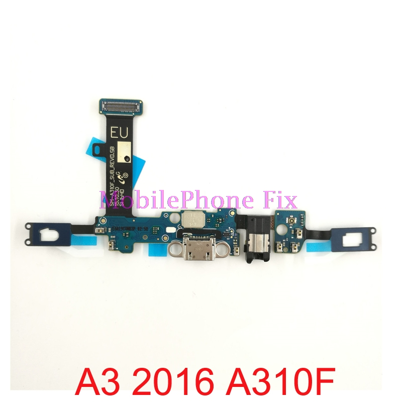 USB Charging Port Flex Cable For Samsung Galaxy A3 (2016) A310F A310M USB Charger Dock Connector Flex Cable Parts