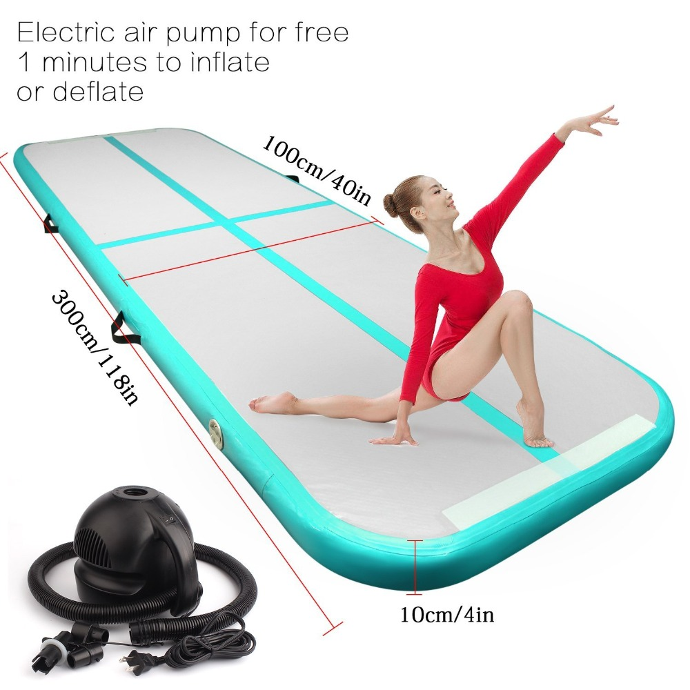 2018 Inflatable Gymnastic Airtrack Tumbling Yoga Air Trampoline Track For Home use Gymnastics Training Taekwondo Cheerleading
