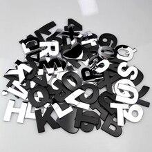 Etiqueta engomada de número de coche, emblema de Metal para maletero trasero, para Renault, Nissan, Mercedes Benz, Chervolet, Volvo, Volkswagen