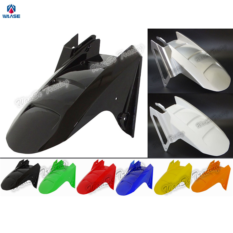 waase ZX6R ZX636 Motorcycle Rear Wheel Hugger Fender Moto Mudguard Mud Splash Guard For Kawasaki Ninja ZX-6R ZX-636 2003 2004 for kawasaki ninja zx6r zx 6r zx 6r zx636 2005 2006 cnc motorcycle frame sliders screw crash pad cover falling protector guard