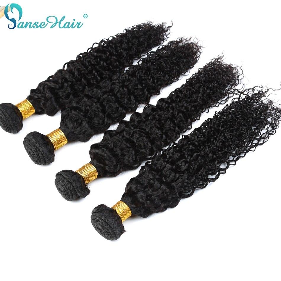 Verworrenes gelocktes Panse-Haar-brasilianisches nicht Remy - Menschenhaar (für Schwarz) - Foto 5