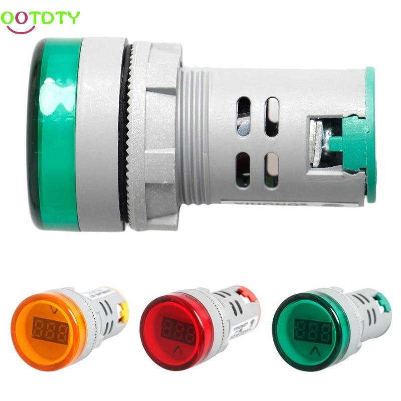 22 MM Digital Display Voltmeter Lights Combo AC 60V-450V Indicator  828 Promotion 6l2 v panel ac voltmeter black white 0 450v