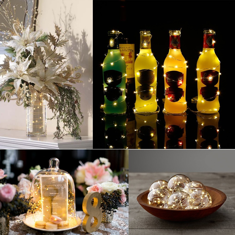 Rushed Fairy Lights Lighting Star 15 Led String Light Wine Bottle Stopper Lamp Holiday Party Christmas Tree Wedding Decorative