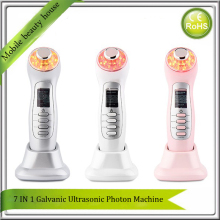 Portable Face Lift Photon Tender Skin Smooth LED Light Therpay Galvanic Spa Ion Deep Cleaning Makeup Ultrasonic Face Massager