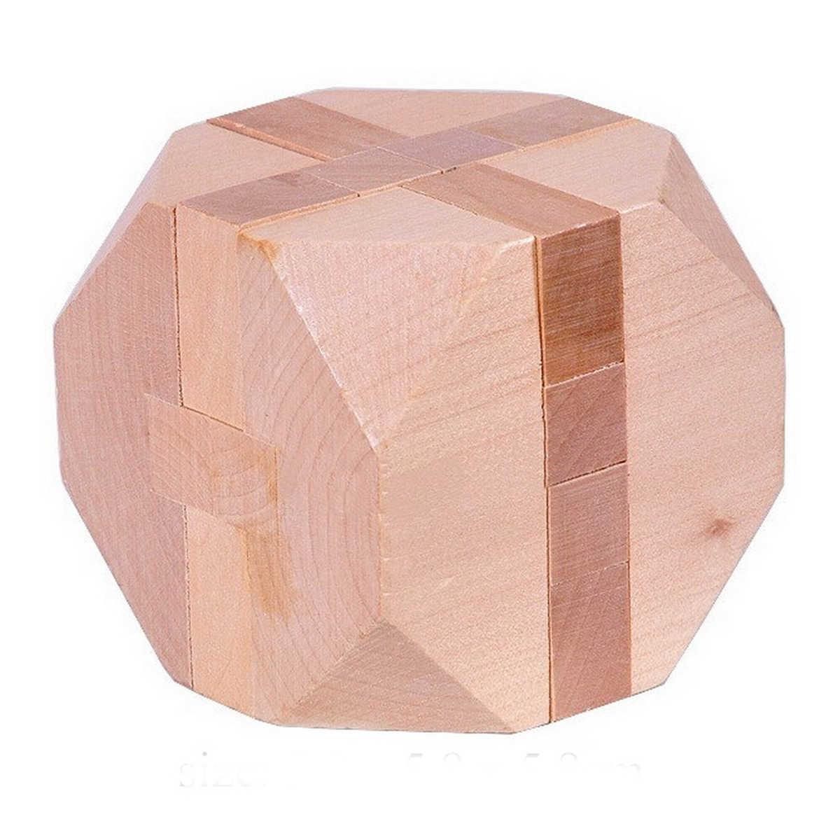 Abwe Best продажи деревянный tetrakaidecahedron Блокировка логическая головоломка заусенцев Паззлы Логические интеллектуальной Сборка игрушки