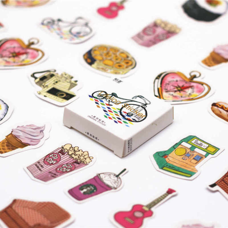 40 PCS Delicious Sweet Dessert Sticker Food Decals Stickers Gifts for Children to Laptop Suitcase Guitar Fridge Bicycle Car