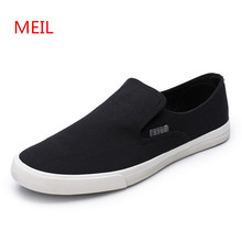 Summer Slip on Black  Canvas Shoes Men Breathable Sneakers Loafers Zapatillas Hombre Casual Shoes Men Korean Version Trainers стоимость