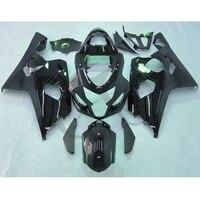Black INJECTION Fairing Bodywork Kit For SUZUKI MOTO GSX R GSXR 600 750 04 05 K4 16B