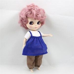 Image 2 - מפעל Blyth שמנמונת 90BL1063 ורוד מתולתל שיער חמוד גברת Plumpy 1/6 שומן ילדה צעצוע מתנה