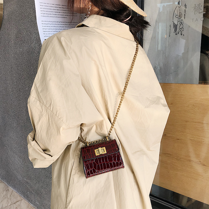 Stone Pattern Mini Crossbody Bag