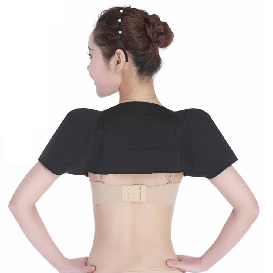Self heating shoulder support pad massage keep warm relieve soreness rhermal magnetic therapy shoulder protection Health care