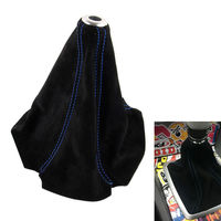 1x BU Stitching Suede Black Manual Car Shift Boot Covers Sport Style For Patriot