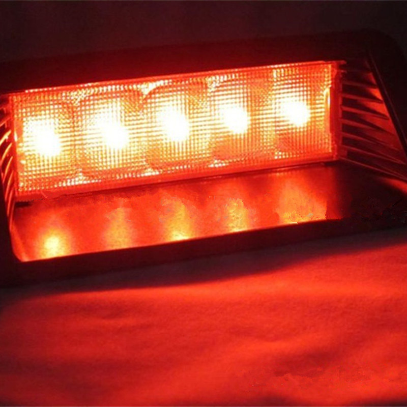 Car-styling High Power 5 LED Additional Brake Lights Automobile Bright LED Stop Bean Chassis Lights for Car Car LED Signal Lamps 2017 car styling 24 80 led additional brake lights auto super hight bright led stop bean chassis lights for car 12v signal lamps
