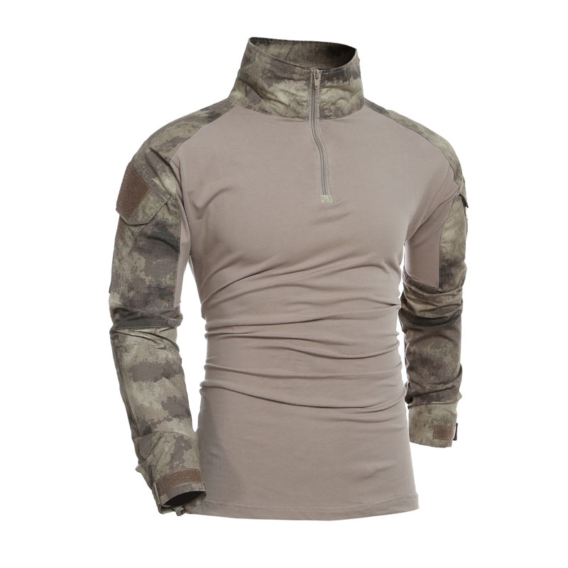 Camouflage T-shirts Men U S Army Combat Tactical Long Sleeve Uniform Special Soldier Military Long Sleeve Tee Shirts Homme