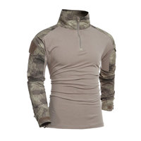 Men Camouflage T Shirts U S Army Tactical Long Sleeve Uniform Special Soldier Combat Military Long