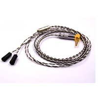 Earphone cable 160 core single crystal sterling silver & 130 copper silver palladium alloy line mixed earphone upgrade for IE80