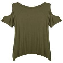 Zanzea Fashion Blusas 2016 Sexy Women Tops Off Shoulder V-neck T Shirt Casual Solid Loose Top Tee Plus Size M-XXL