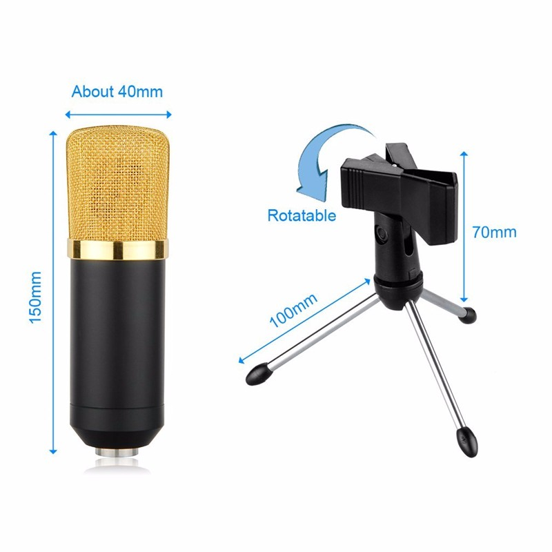 mk f100tl microphone  USB Condenser Microphone Karaoke MK-F100TL Amplifier player professional sound wired microphone