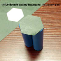 20pcs/lot 14500 lithium battery pack hexagonal insulation pad polygon solid package barley paper gasket insulation meson