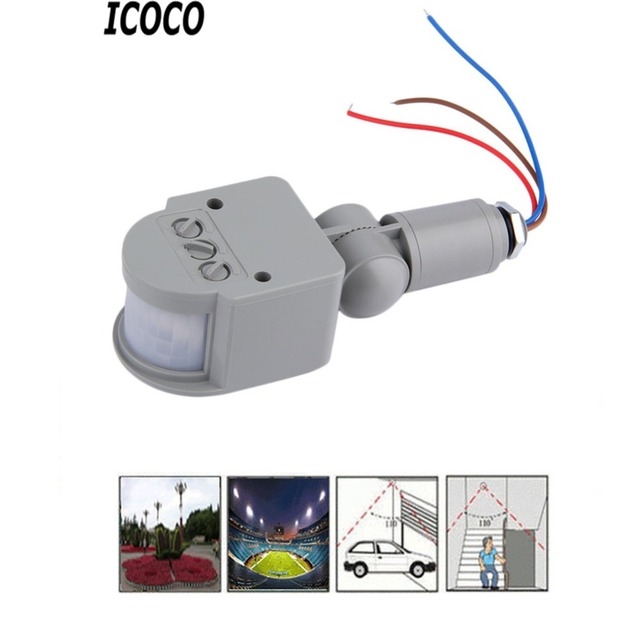 Dc12v Ac85 265v Infrared Pir Motion Sensor Switch With Led Light Automatic Outdoor