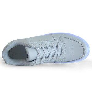 Image 3 - サイズ 35 44 USB 充電 LED ライトアップシューズ靴 LED スリッパメンズ & 女性の発光グローイング靴 krasovki とバックライト靴
