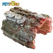 Petforu эмульсионный арочный полудерево ракушка рептилия скрытый отдых пещера домашнее животное место обитания орнамент