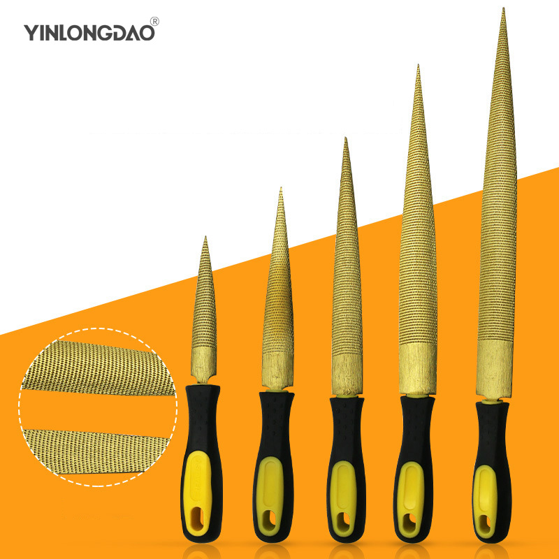 6/'/' 8/'/' 10/'/' 12/'/' Rasp File Wooden Handle Flat Triangular Half-Round For Metal