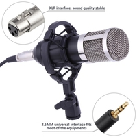 EDAL Professional BM 800 Condenser Microphone For Computer Audio Studio Vocal Recording Mic KTV Karaoke Microphone