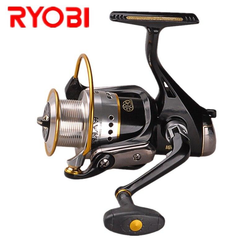 100% original ryobi guerreiro (novo ecusima) fiação carretel de pesca 6 + 1bb 5.1: 1/5. 0:1 roda de fiação para pesca de água salgada da carpa