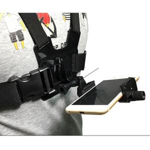 Image 1 - Arnés de montaje en pecho para teléfono móvil, soporte de correa, Clip para teléfono móvil, Cámara de Acción para Samsung iPhone Plus, correas ajustables