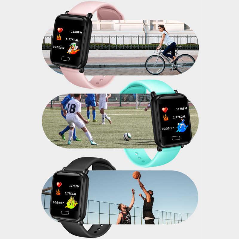 女性のスマート防水スポーツ Iphone 電話スマートウォッチ心拍数モニター血圧機能子供 pk iwo + ボックス