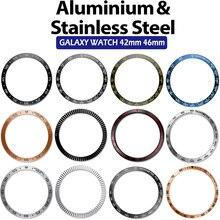 Lunette anneau style pour Samsung Gear S3 frontière galaxie montre 46mm/42mm/Gear S2 classique Bracelet intelligent anneau housse de Protection