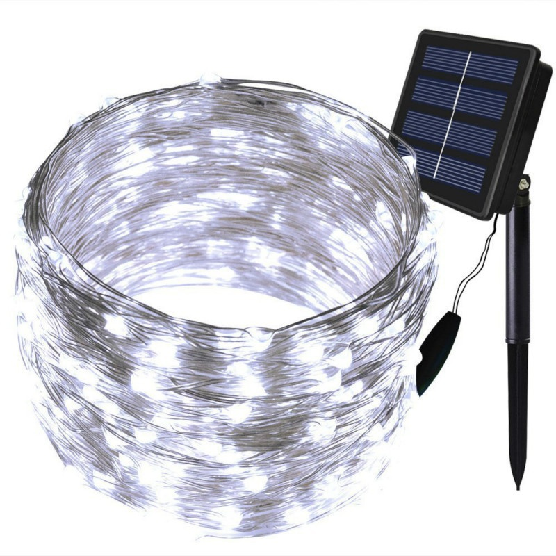 150LED 72ft Outdoor Solar Powered Copper Wire String Lights Waterproof Solar Fairy Decoration Lights for Garden Home Patio Party