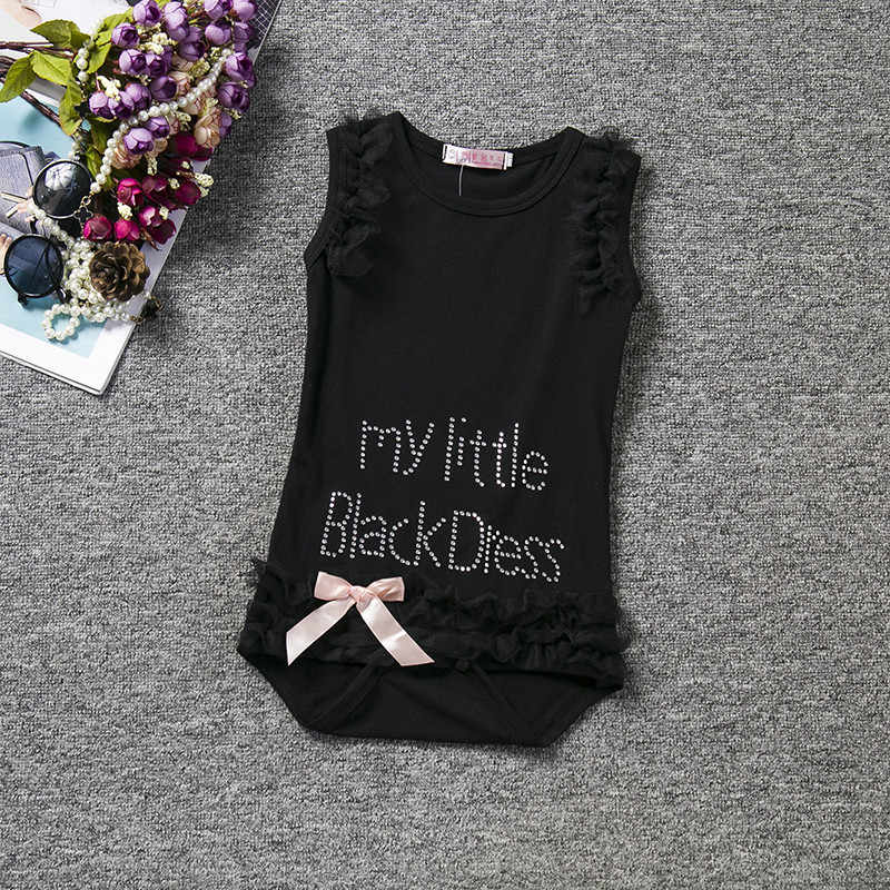 ... Baby Little Girl Black Romper Infant Sleeper Pajamas Jumpsuit One-piece  Baby Clothes Newborn Girl s ... 98c181658