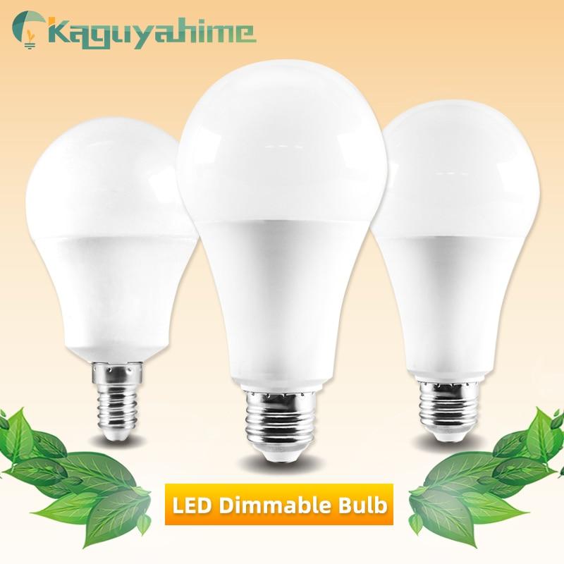 Kaguyahime E27 LED Bulb 20W 15W 12W 9W 6W 5W 3W E14 Bulb LED Lamp Lampada AC 220V Table Lamp Cold White Spotlight Home Light