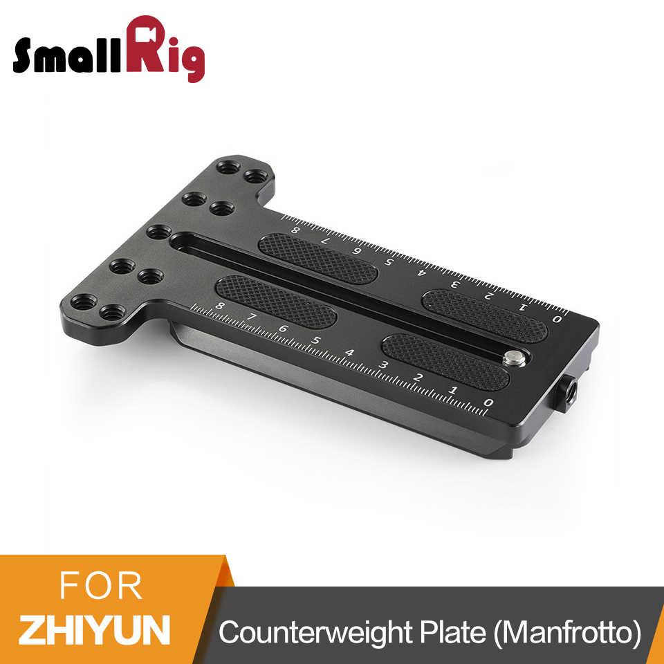 Płyta montażowa SmallRig przeciwwaga (typ Manfrotto) dla Zhiyun Weebill Lab i Zhiyun Crane 2 płyta szybkiego uwalniania-2277