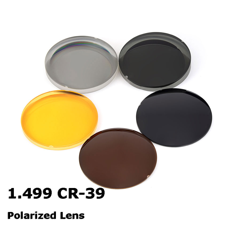 1.499 CR 39 Polarized Sunglasses Prescription Optical Lenses For Driving Fishing UV400 Anti Glare Polarized Lenses-in Eyewear Accessories from Apparel Accessories