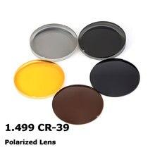 1.499 CR 39 แว่นตากันแดดโพลาไรซ์ออปติคอลเลนส์สำหรับขับขี่ตกปลา UV400 ป้องกัน   แสงจ้าเลนส์โพลาไรซ์