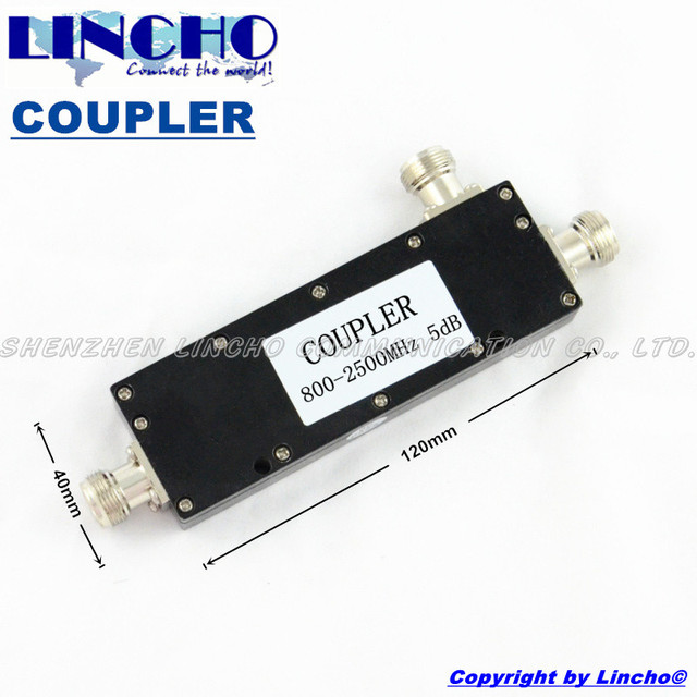 5dB signal coupler divider frequency 800-2500Mhz,coupling,directional coupler,Signal Booster Coupler