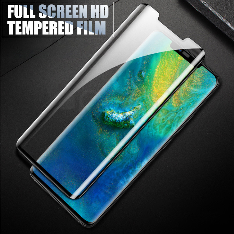 Image 4 - 9D Protective Glass on the For Huawei Mate 20 10 Pro 20X 9 Lite Screen Protector For Huawei P Smart Tempered Glass Film Case-in Phone Screen Protectors from Cellphones & Telecommunications