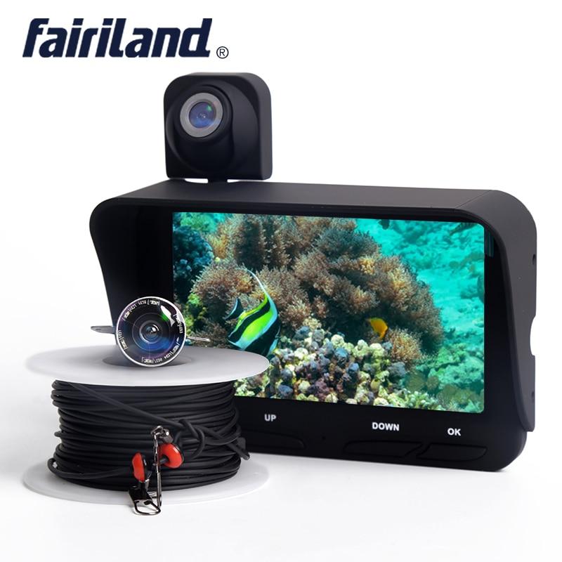 Détecteur de poisson avec deux caméras support sous-marin et sur l'eau enregistrement vidéo détecteur de profondeur de poisson traqueur de pêche équipement de pêche