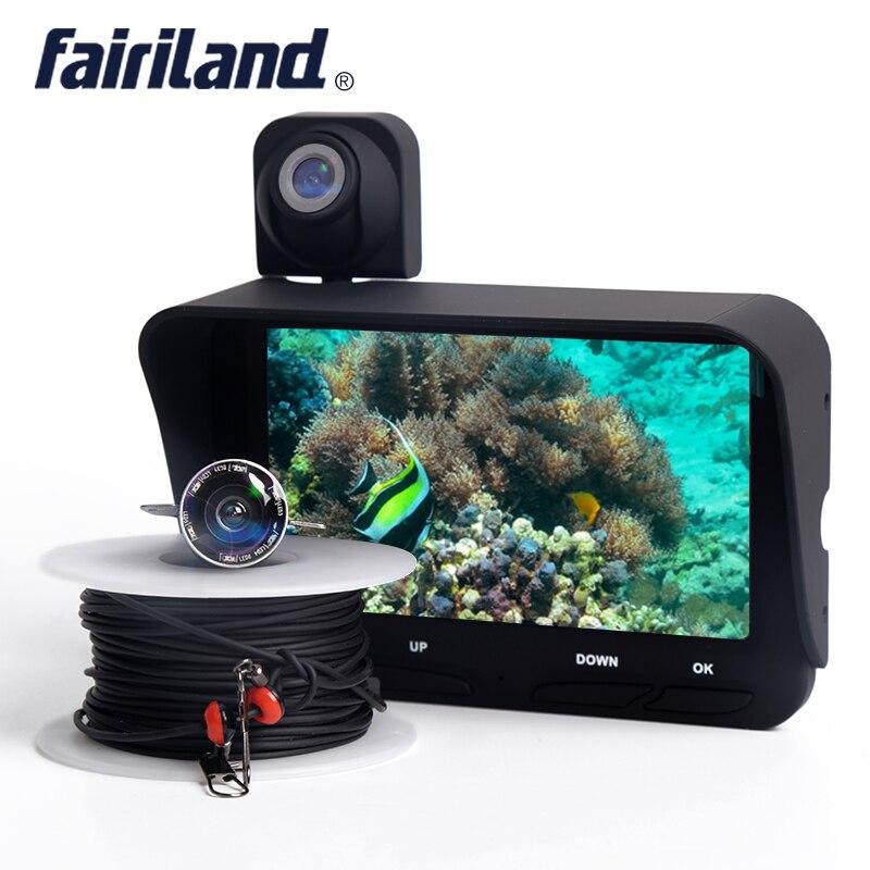 Fisch finder mit zwei kameras unterwasser & overwater unterstützung video rekord fisch tiefe finder angeln tracker Angeln Ausrüstung