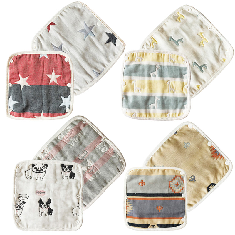 4pcs/set Cotton Yarn Newborn Toddler Soft Baby Bib Baberos Baby Bibs Infant Neckerchief Bandana