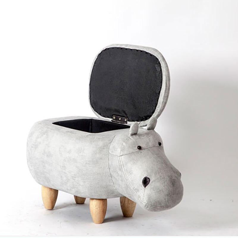 2018 Top Fashion Vente Chaude Hippopotame Taburetes Chaise Tabourets En Bois Chaussures Designer Meubles Canapé De Stockage Contenant Moderne Pouf Poire