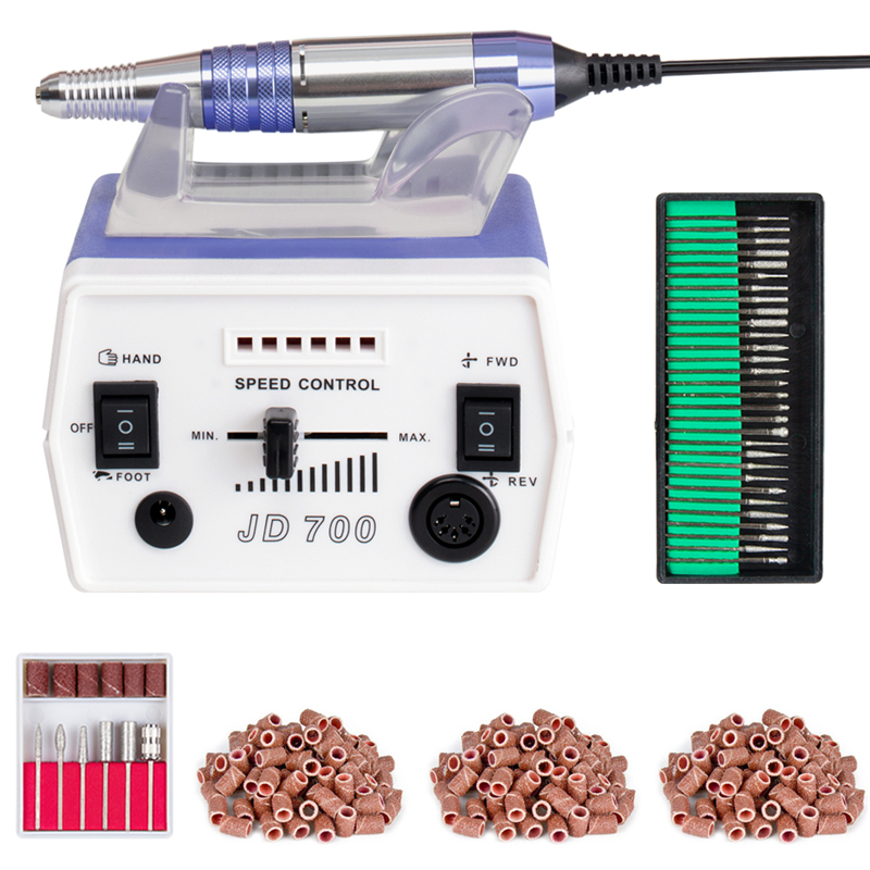 30000RPM Purple Electric nail drill Nail Art Equipment Manicure Pedicure Acrylics Tools Set with sanding bands