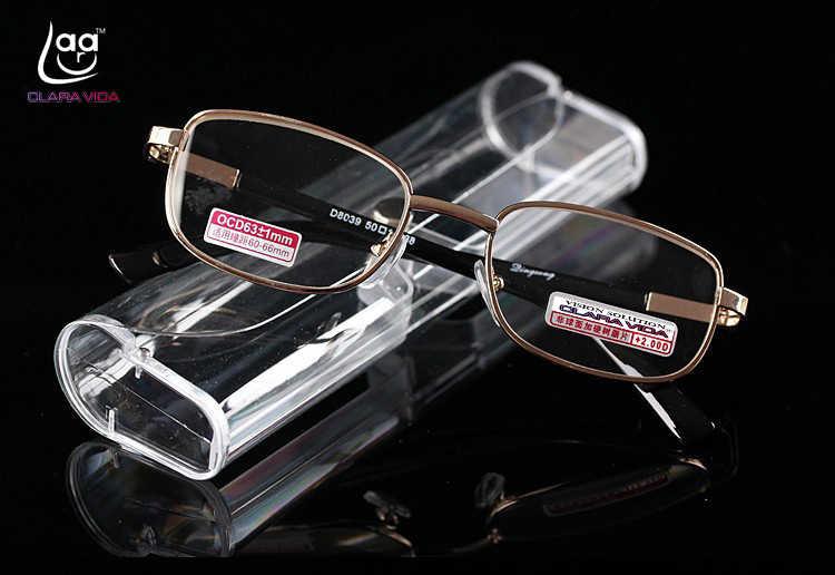 ee414adf70 CLARA VIDA GOLD WITH CASE MEN WOMEN UNISEX READING GLASSES SQUARE SHAPE  BRILLER GAFAS OCULOS+