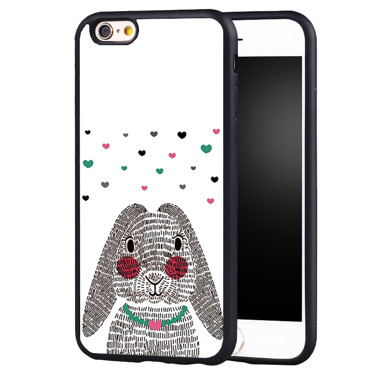 Pink Rabbit Ear Animal illustration Full Protective case Cover For Samsung S8 S8plus S4 S5 S6 S7 edge Note 2 3 4 5